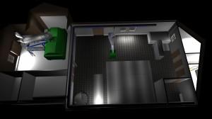 3D-tegning av 1. etasje sett ovenfra